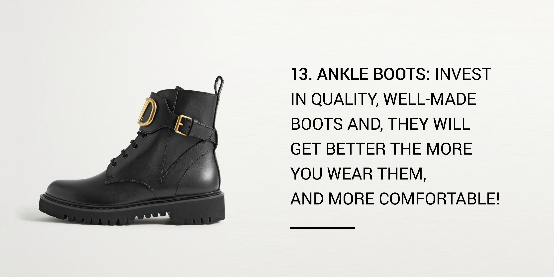 Year Round Capsule Wardrobe - 20 Essential Pieces - ankle boots -ownmuse