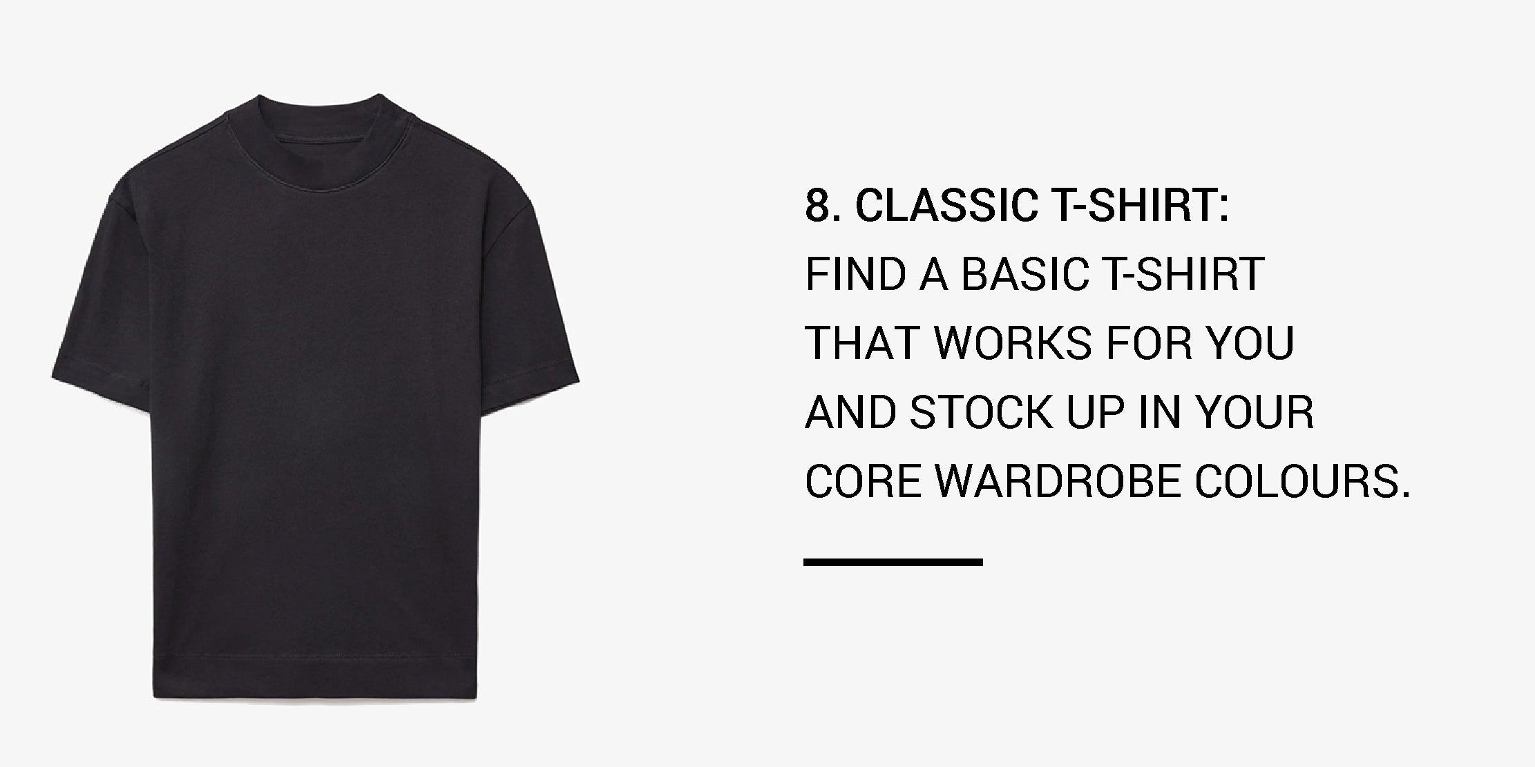 Year Round Capsule Wardrobe - 20 Essential Pieces - classic tshirt -ownmuse