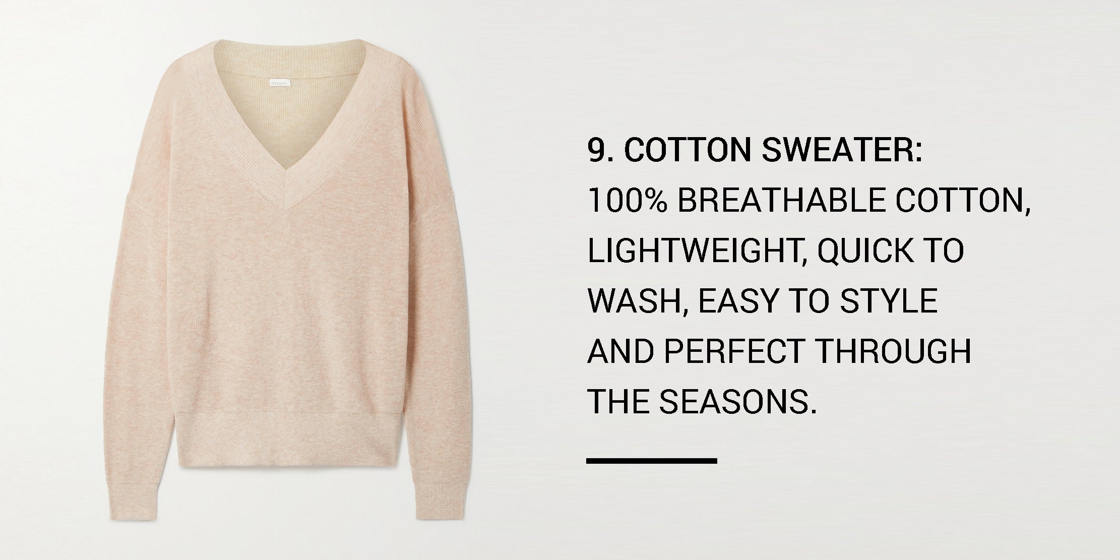 Year Round Capsule Wardrobe - 20 Essential Pieces - cotton sweater -ownmuse