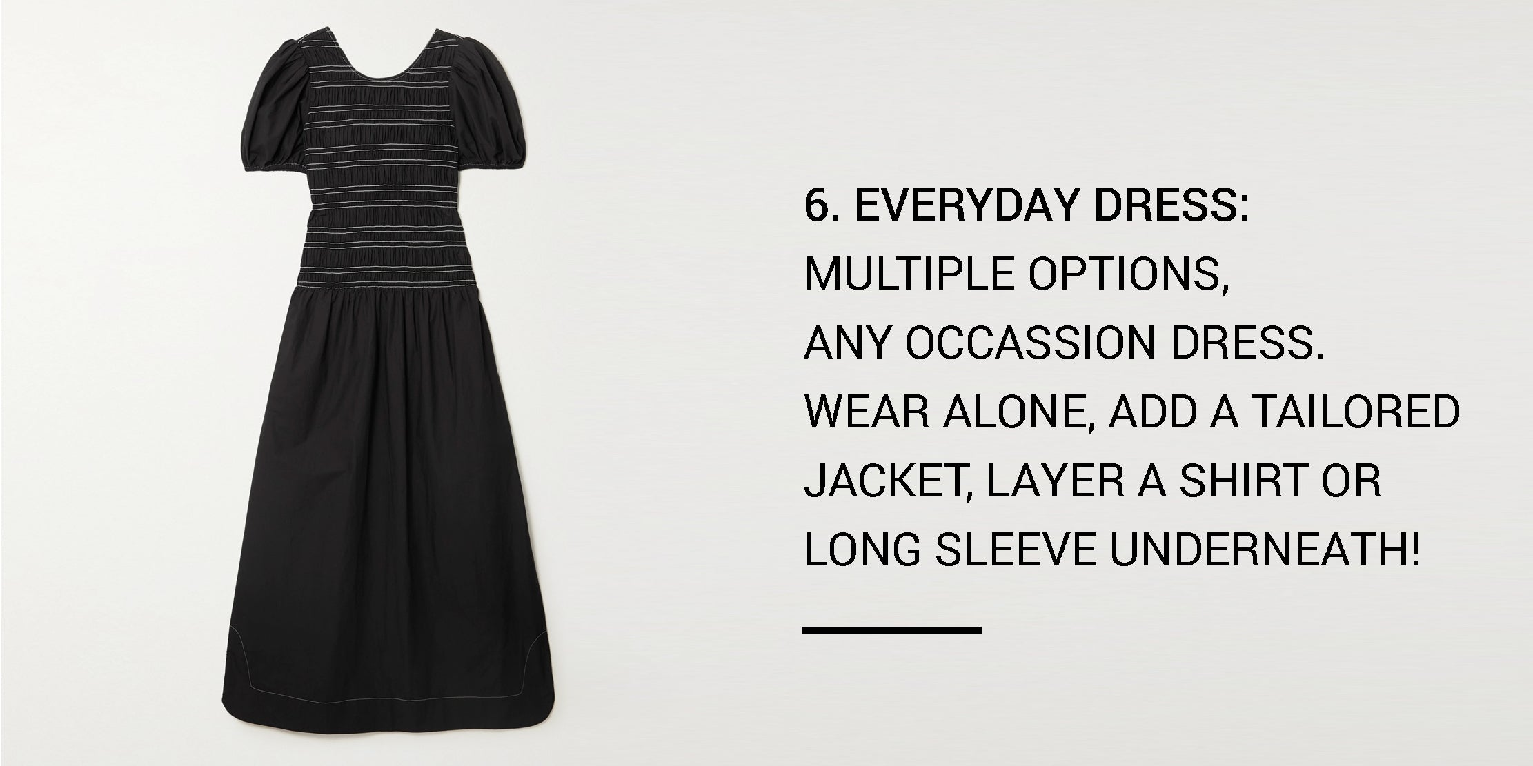 Year Round Capsule Wardrobe - 20 Essential Pieces - every day dress -ownmuse
