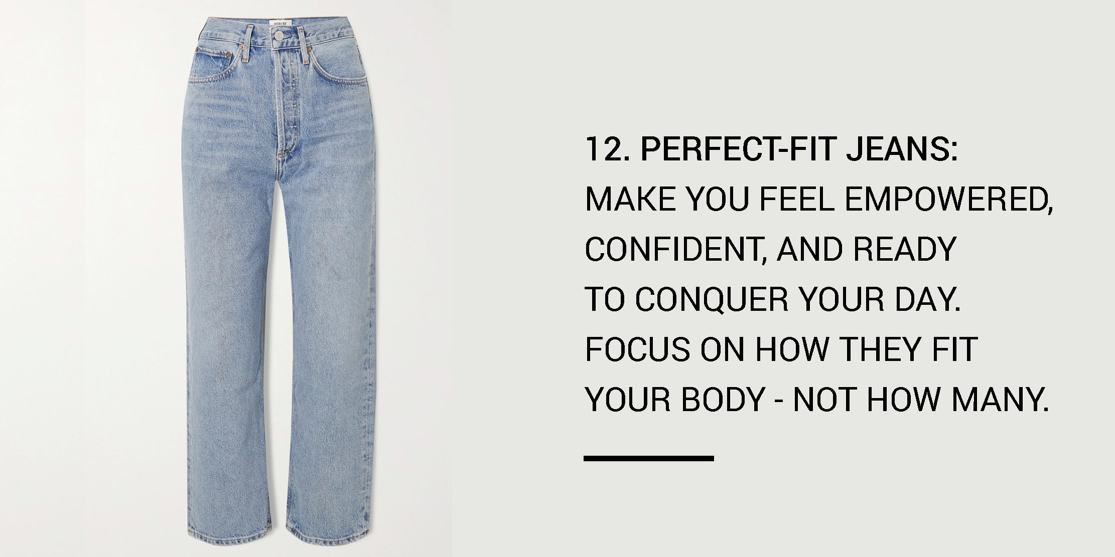 Year Round Capsule Wardrobe - 20 Essential Pieces - perfect-fit jeans -ownmuse