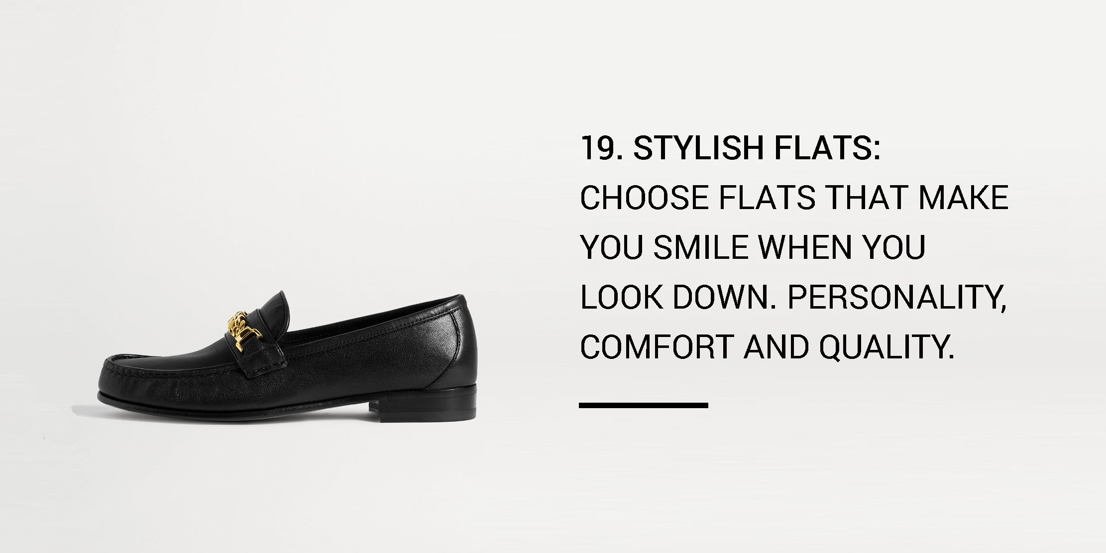 Year Round Capsule Wardrobe - 20 Essential Pieces - stylish flats -ownmuse