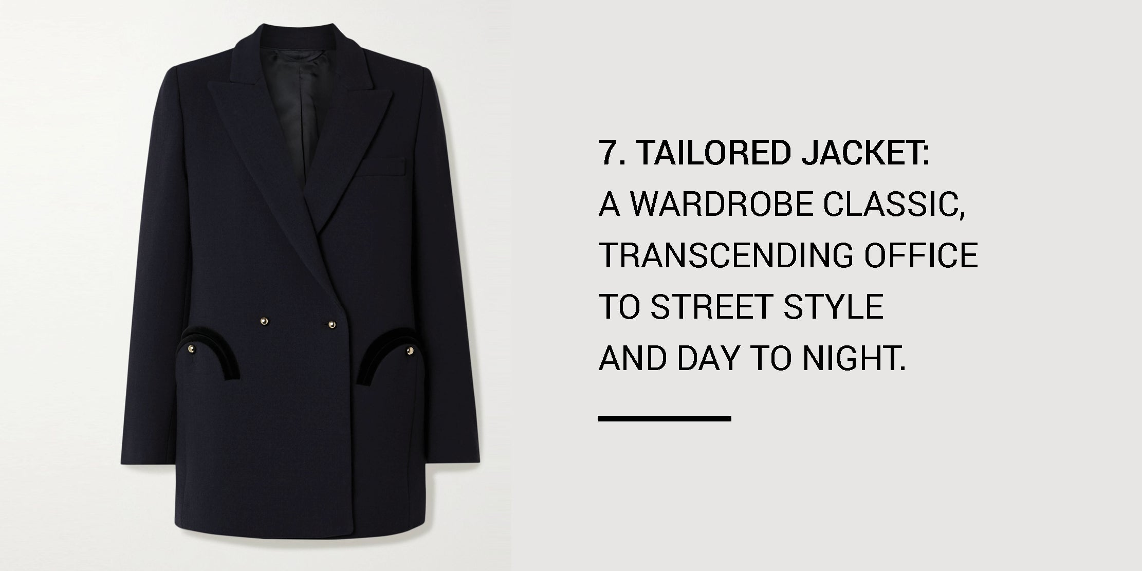 Year Round Capsule Wardrobe - 20 Essential Pieces - tailored jacket -ownmuse