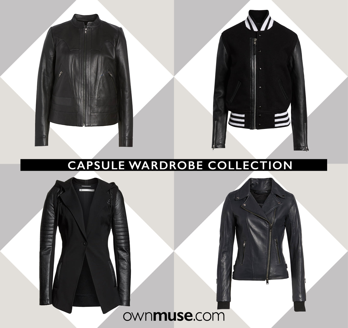 Capsule Wardrobe Collection - Black jackets