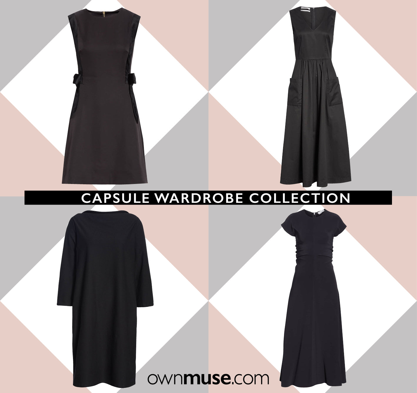Capsule wardrobe collection little black dress