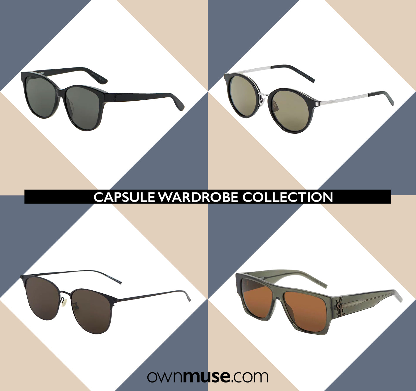 Capsule wardrobe collection - Statement Saint Laurent sunglasses