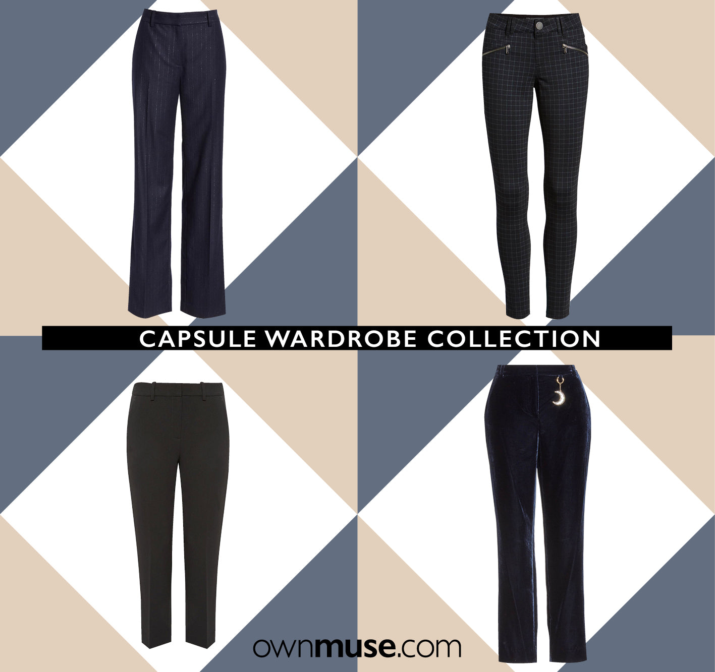 Capsule wardrobe collection trousers pants