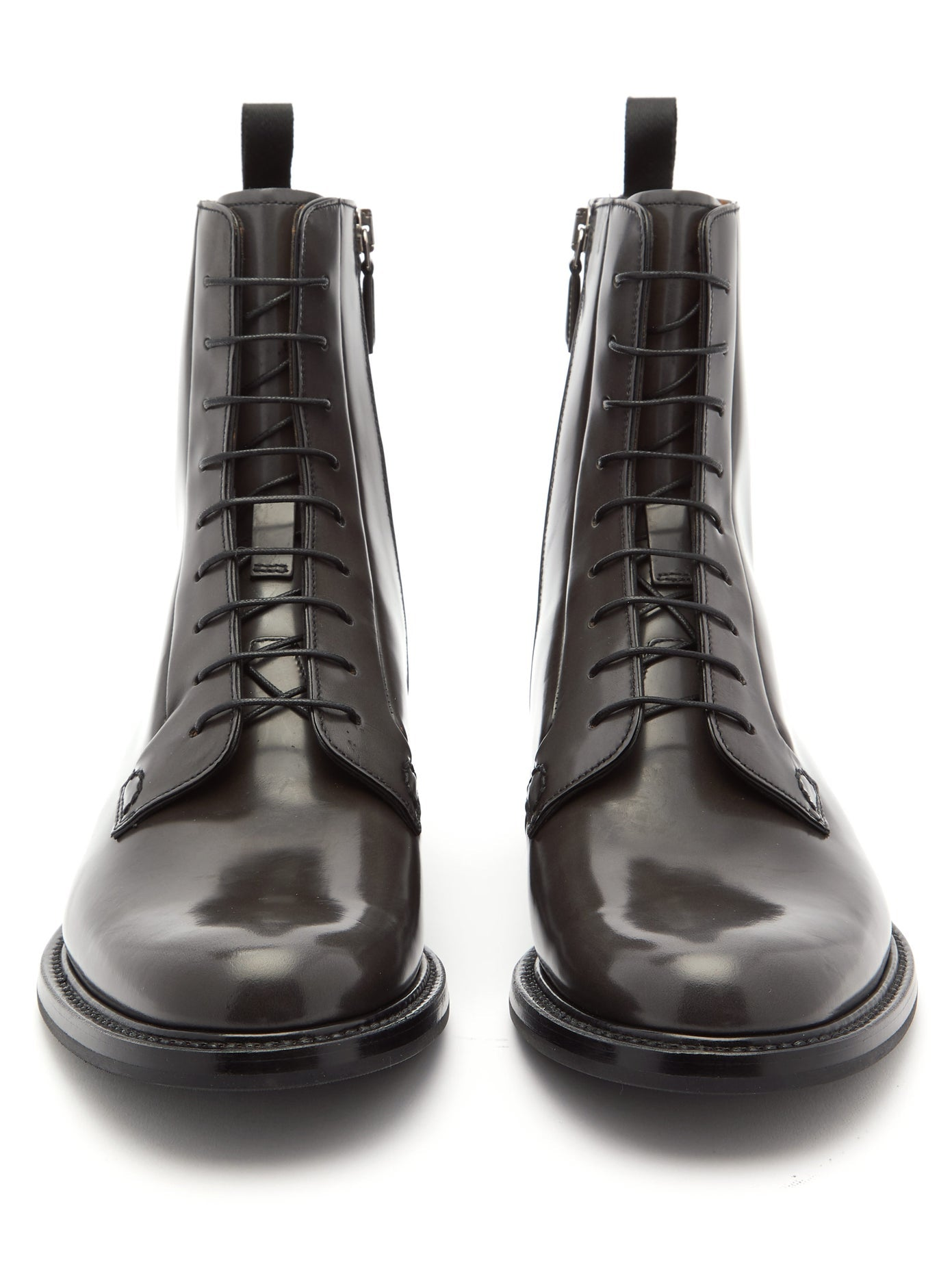 CHURCH'S  Alexandra patent black leather boots