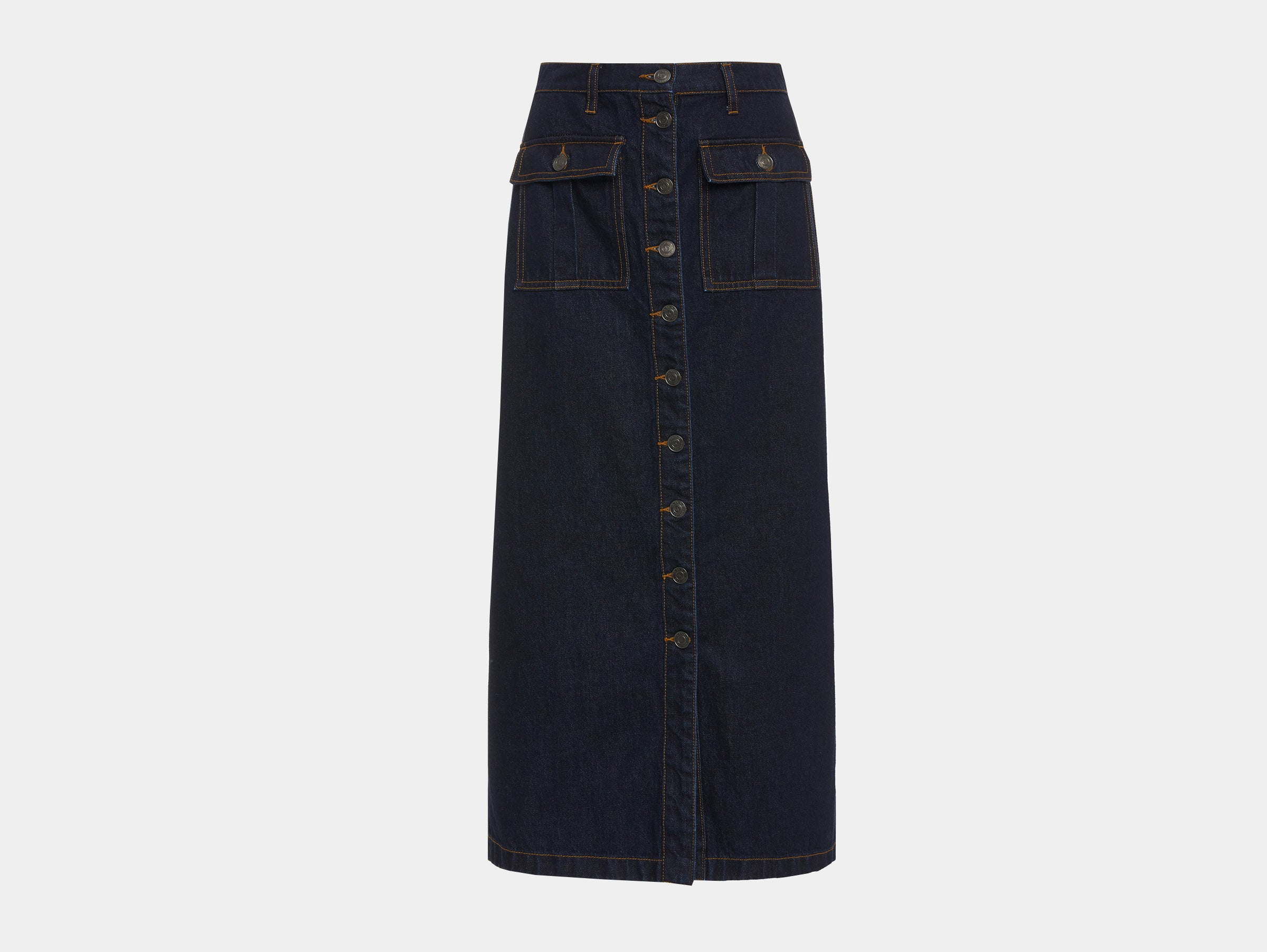 Current Elliot - Denim blue 'The surfview' midi skirt