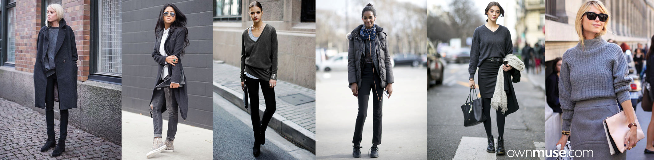 Street style fashion and style in base colour dark grey featured on ownmuse.com