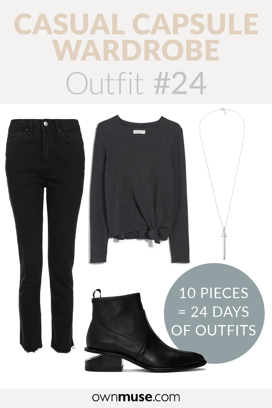 Day wear outfit inspiration - Capsule Wardrobe
