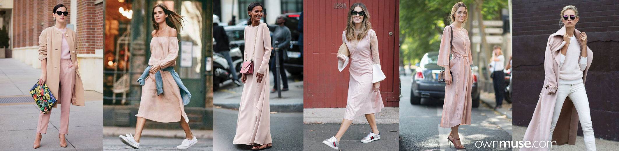 Street style fashion and style in base colour dusty pink featured on ownmuse.com