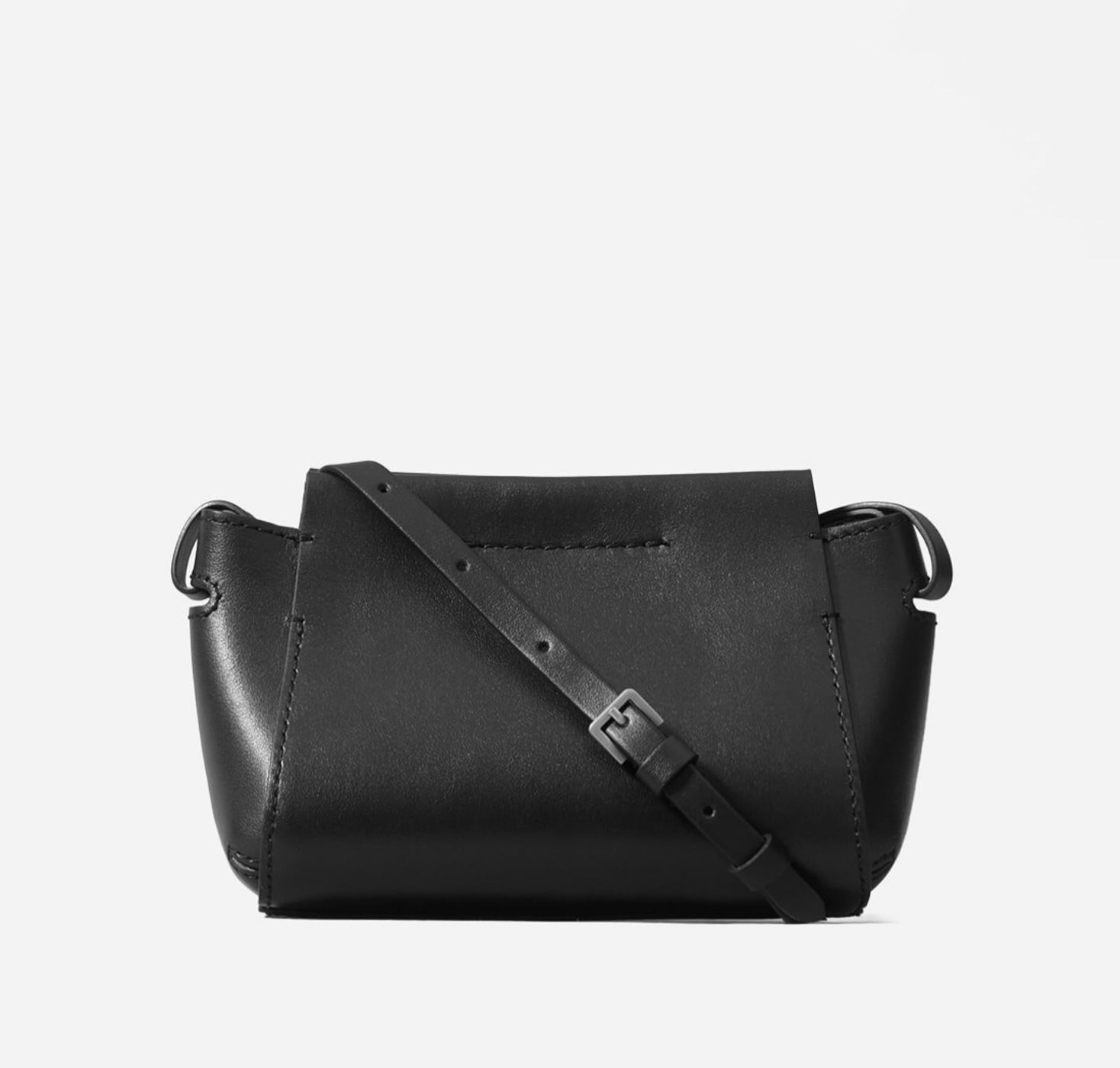 Everlane - 'The Micro Form Bag' - Black small leather cross-body bag