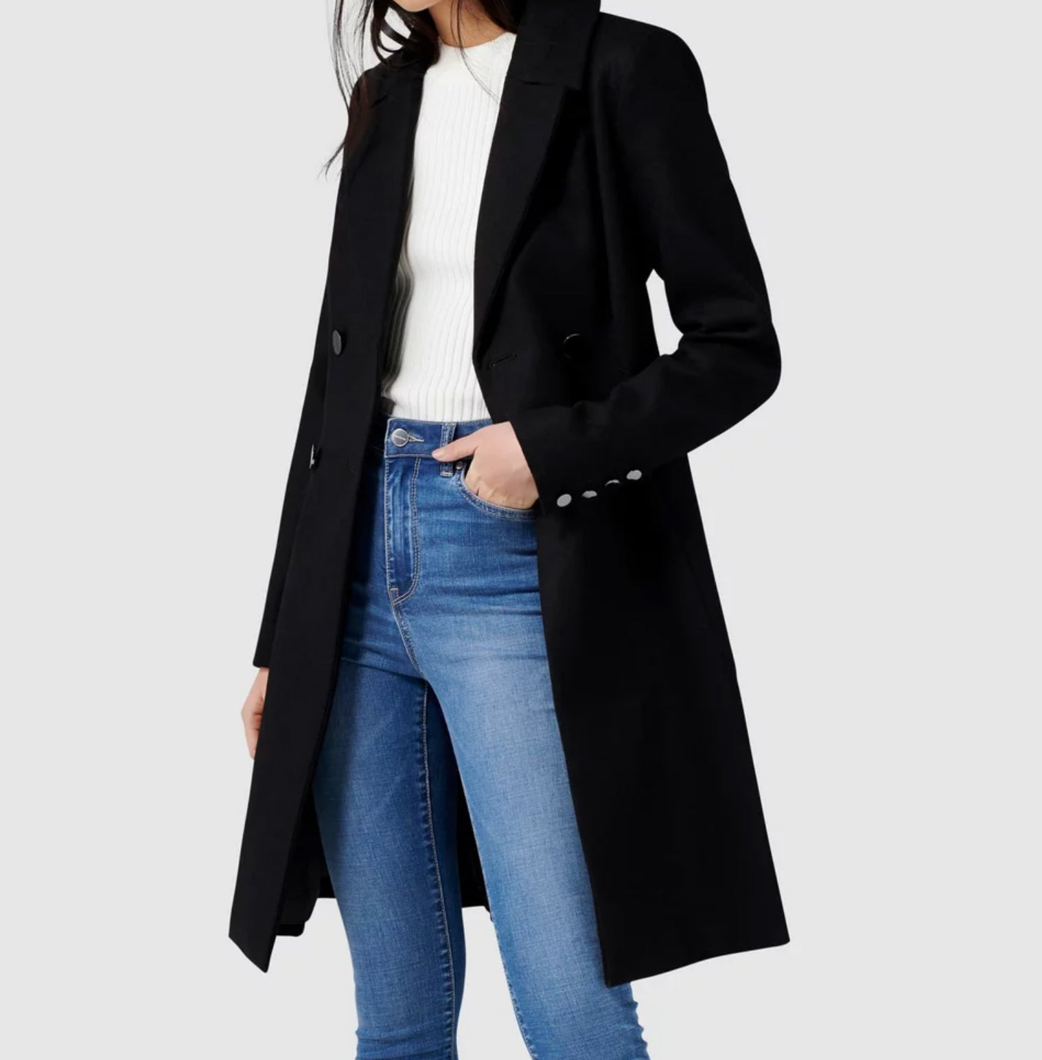 Forever New - Black Paige Skirt Coat