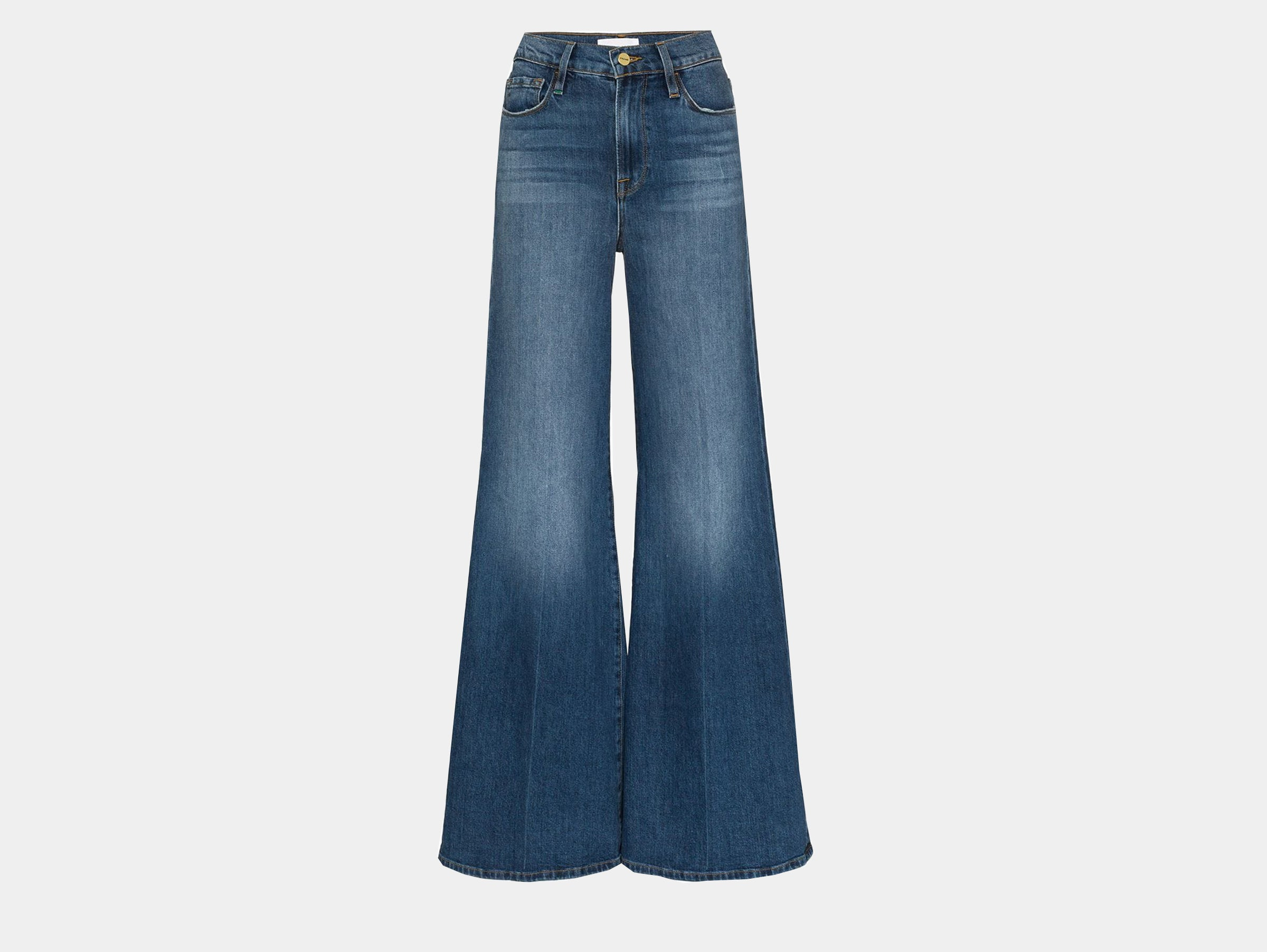 Frame - Le Palazzo blue denim flared jeans