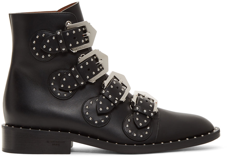 Givenchy - Black leather ankle boots