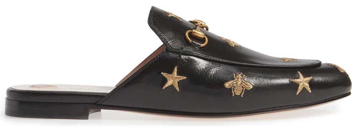 Gucci - Black flats Princeton mule shoes