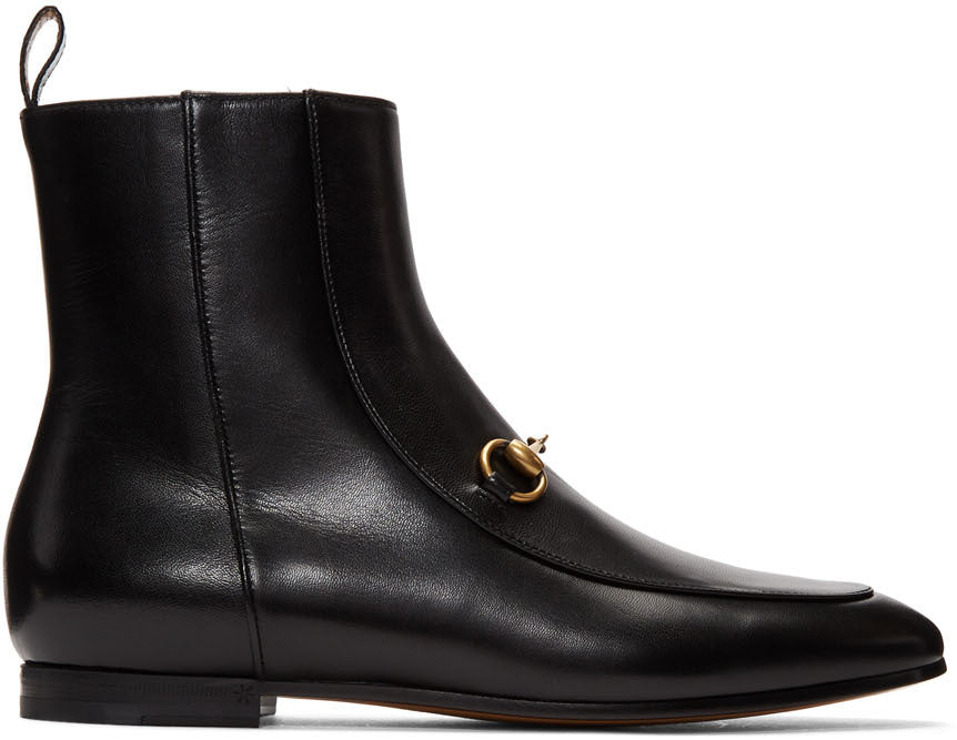 Gucci - Black new 'Jordaan' ankle boots