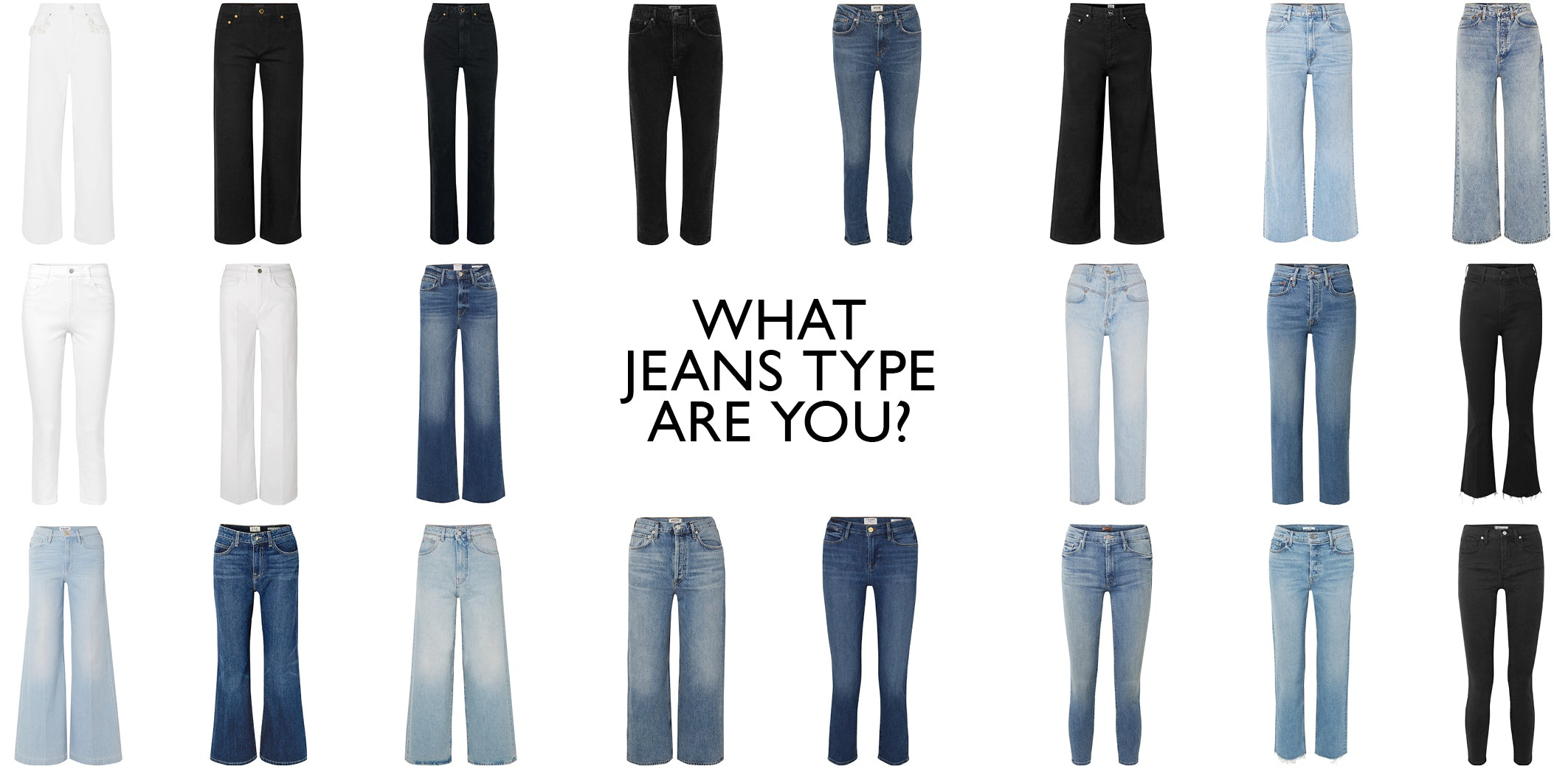 Jeans - Capsule Wardrobe Collection - What jeans type are you?