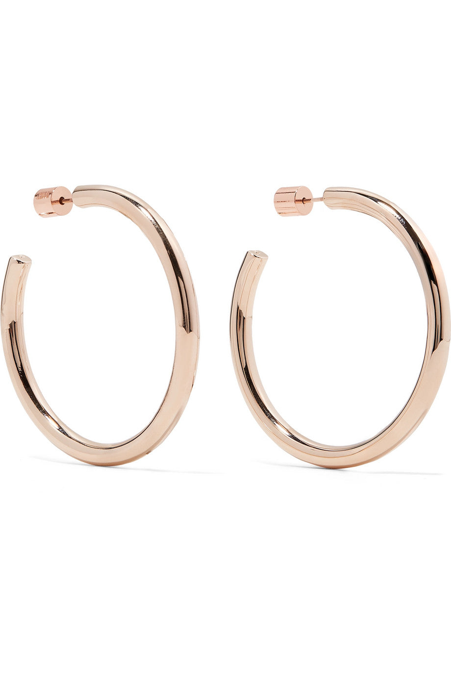 Jennifer Fisher - 'Baby lilly' rose-gold plated hoop earrings