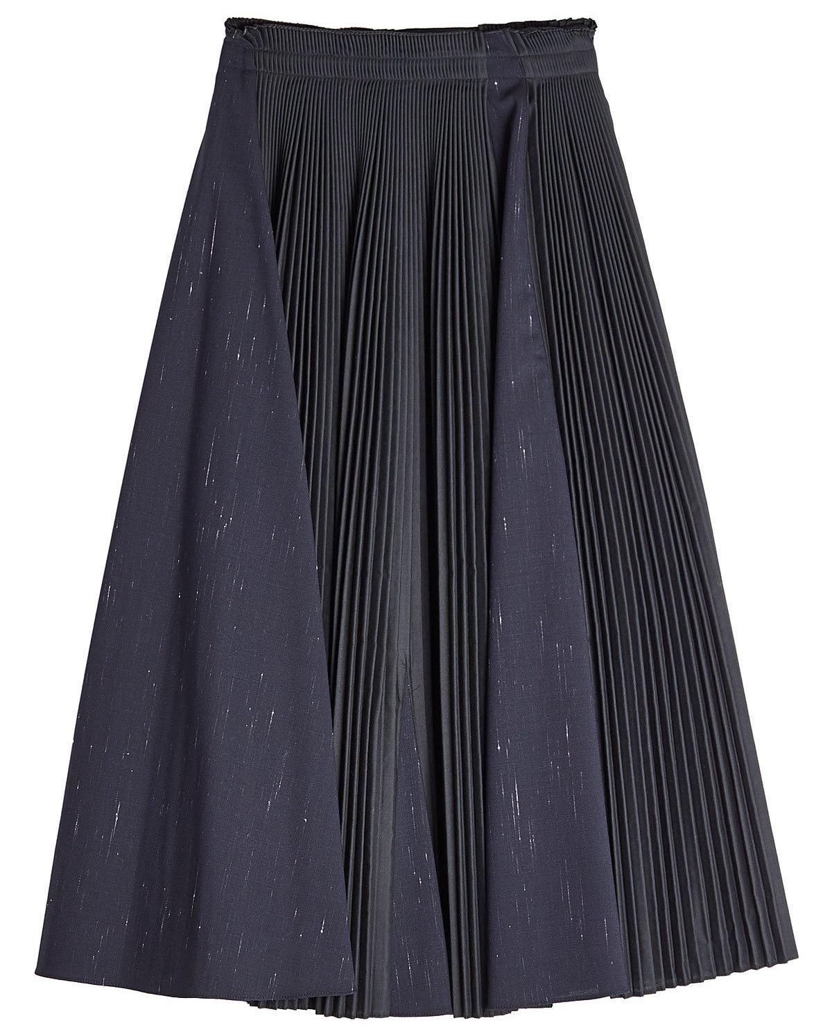 Jil Sander Navy - Pleated navy blue and black skirt