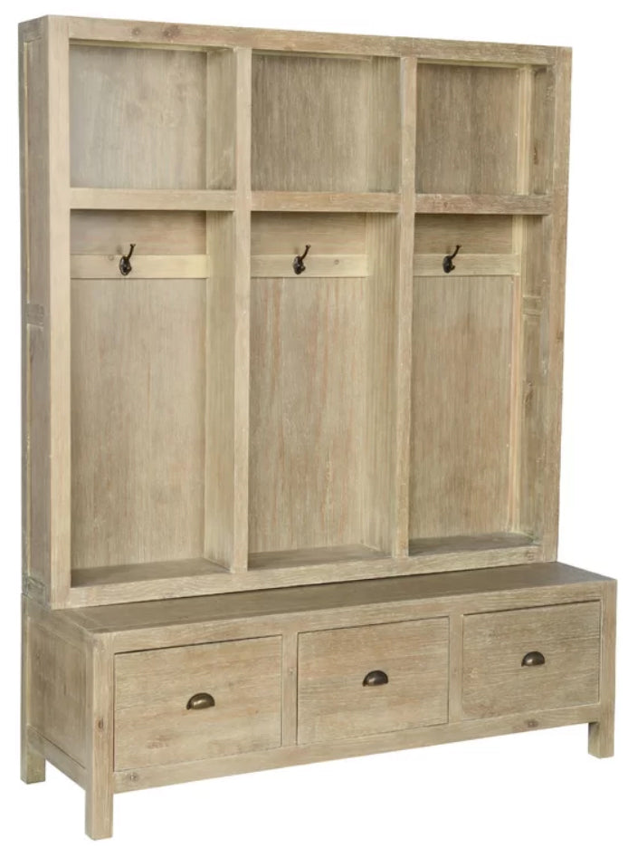 Joss and Main - wood shoes storage entire hall cabinet and hooks
