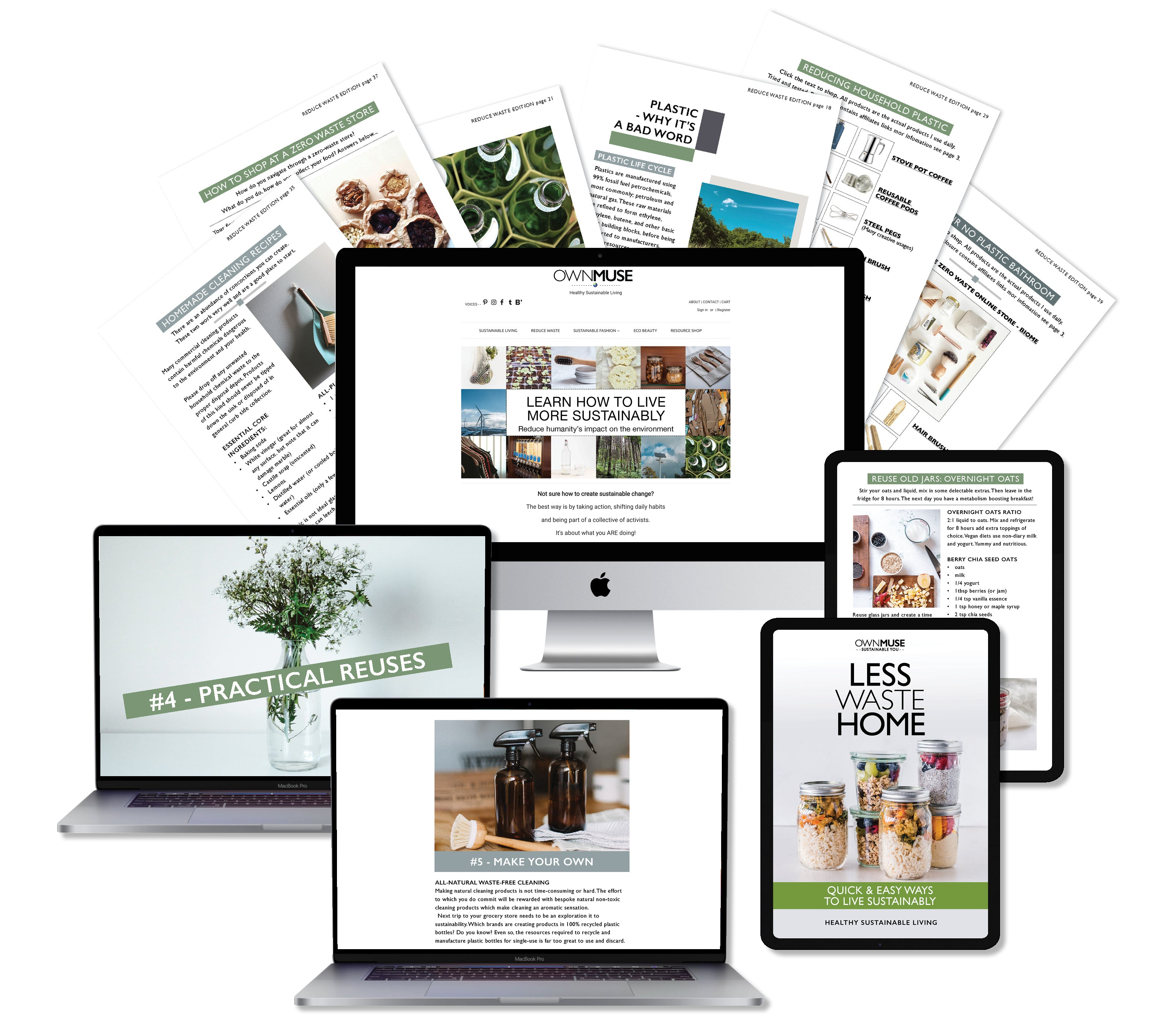 Less Waste Home - Step-by-step Sustainable Living Book