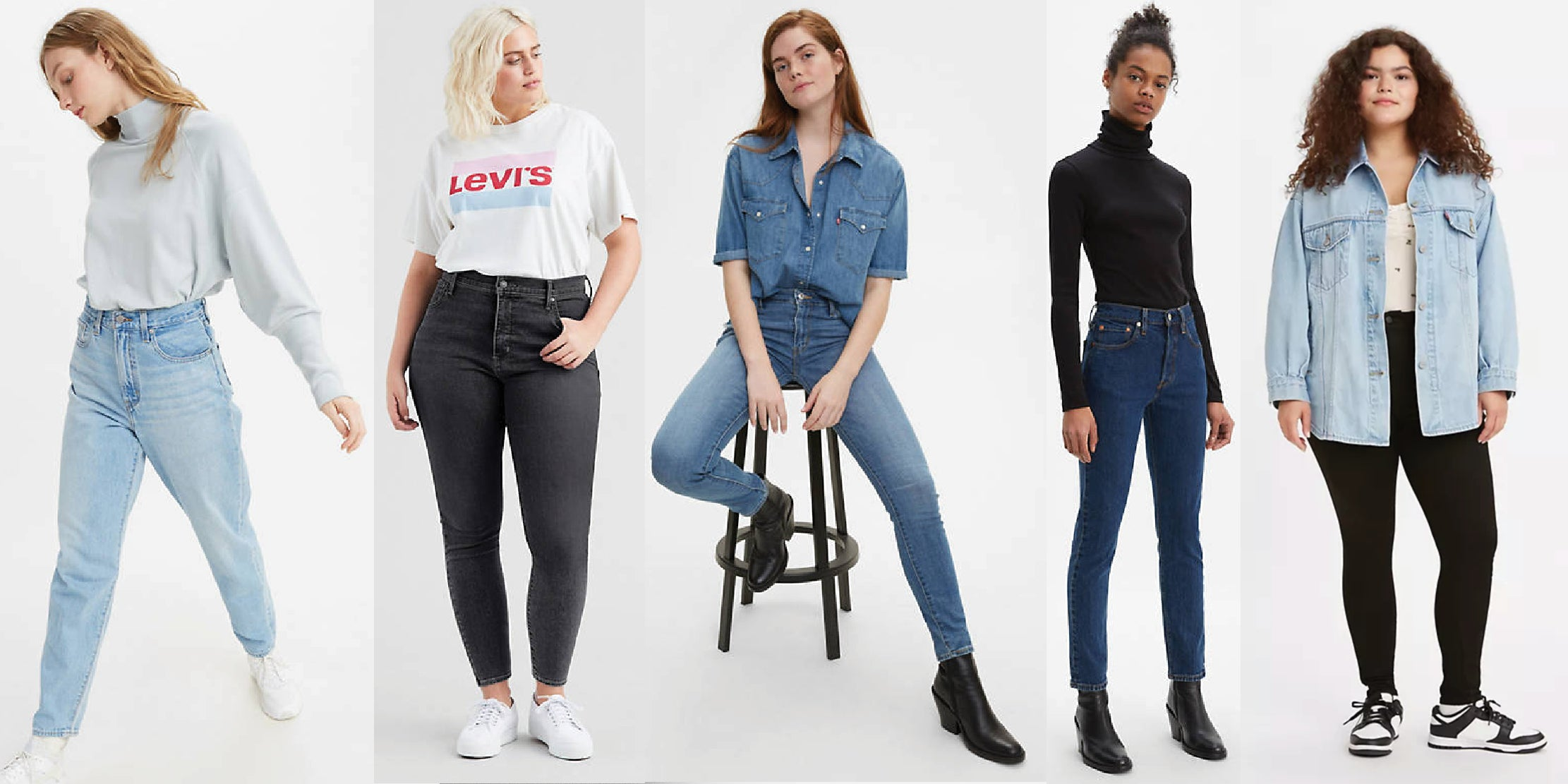 Levi's sizes to fit all body shapes