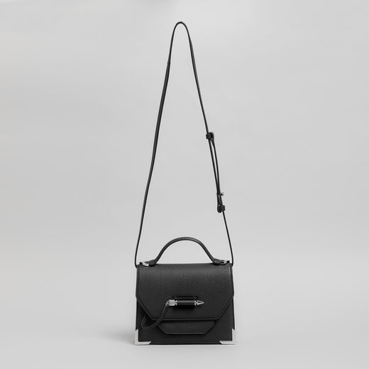 Mackage - Black 'Keeley' crossbody shoulder bag black leather and silver hardware