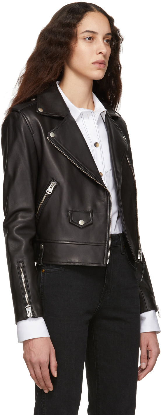 Mackage - Black leather biker jacket