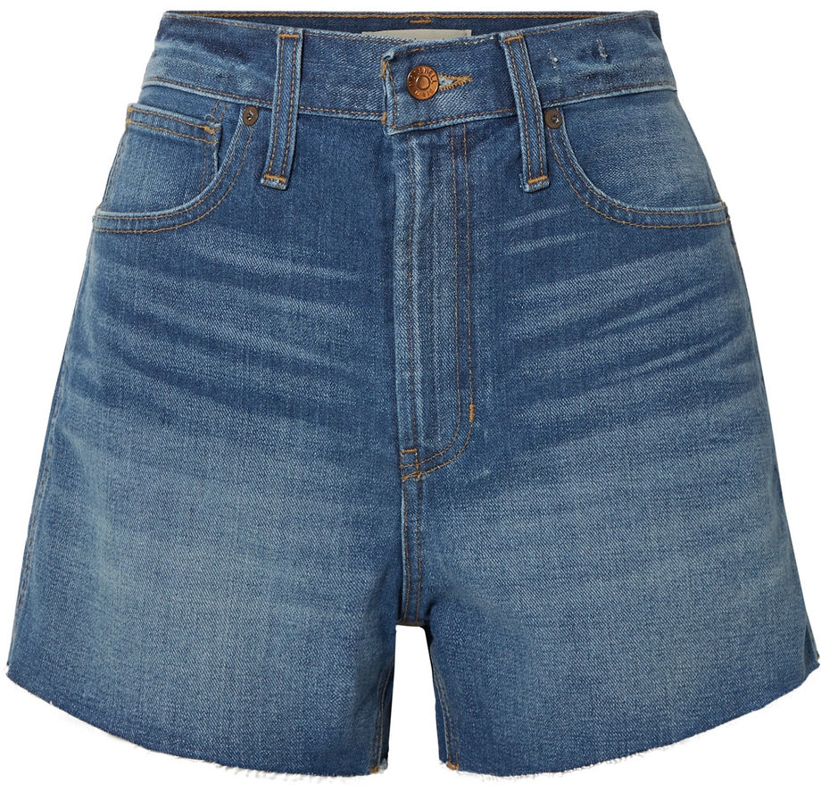 Madewell - Blue denim 'The perfect vintage frayed shorts'