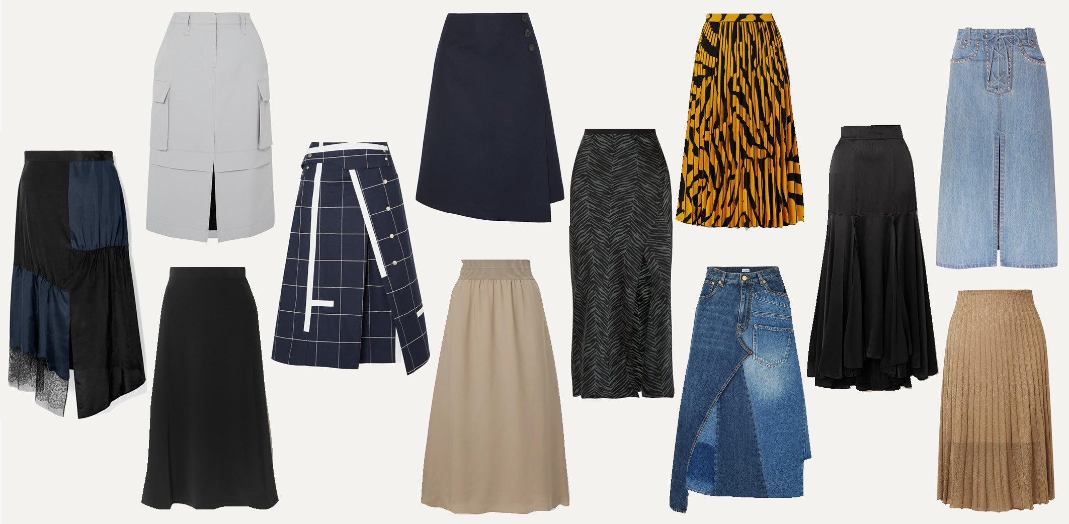 Midi Skirts - Capsule Wardrobe Collection - Must-have Versatile Black Skirts