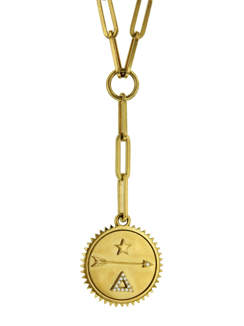 FOUNDRAE Medium Dream Medallion On Clip Necklace - Yellow Gold