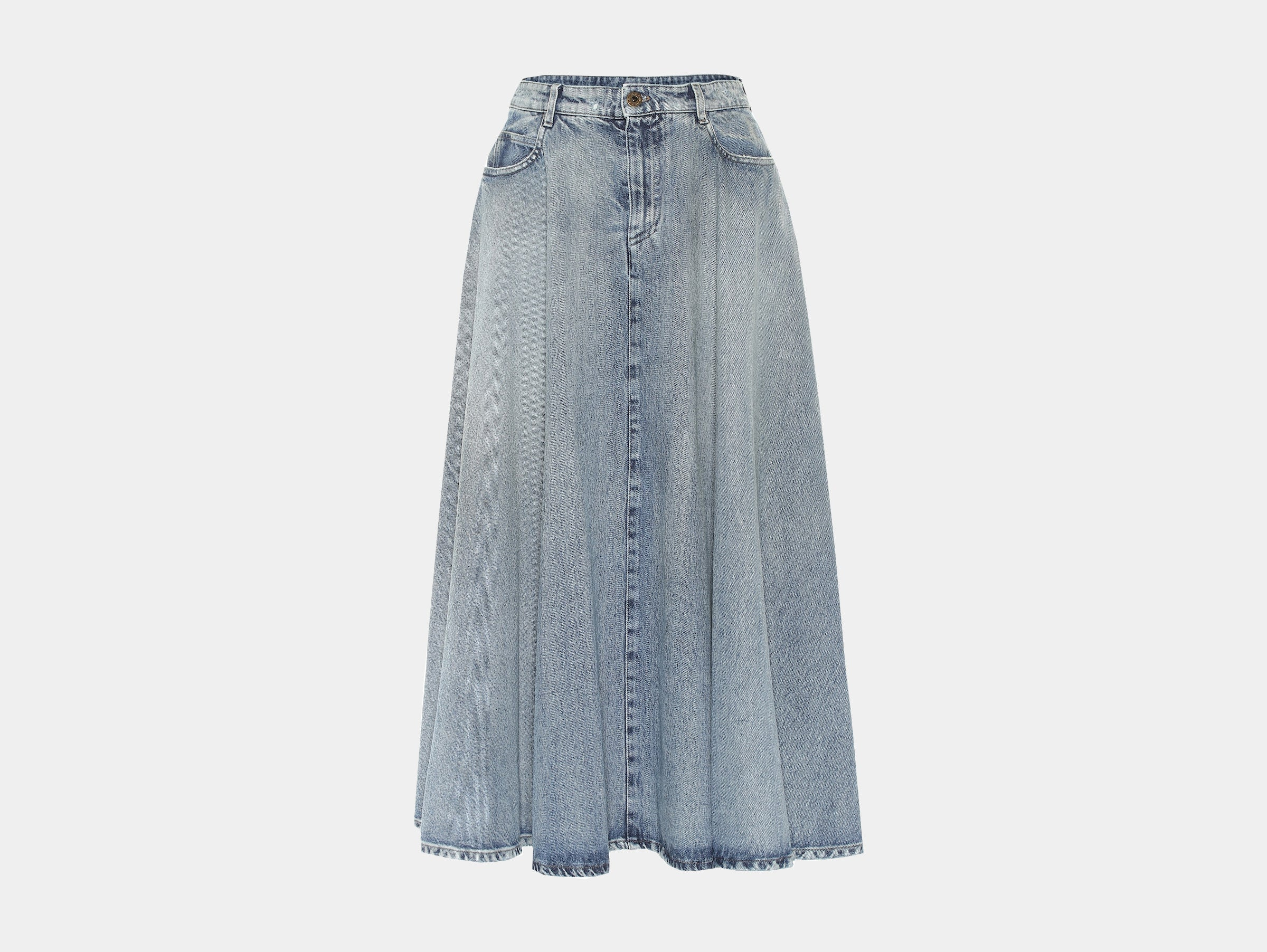 Miu Miu - Midi skirt denim midi skirt