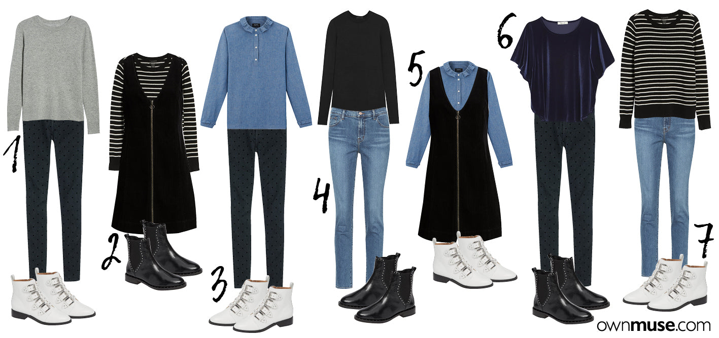 10 Fashion pieces create14 Days of outfits