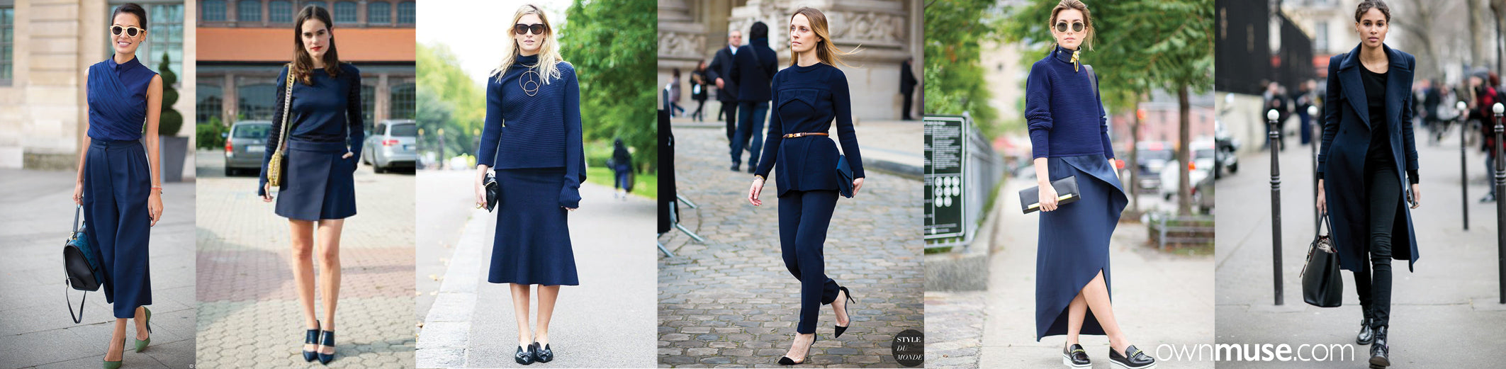 Street style fashion and style in base colour navy featured on ownmuse.com