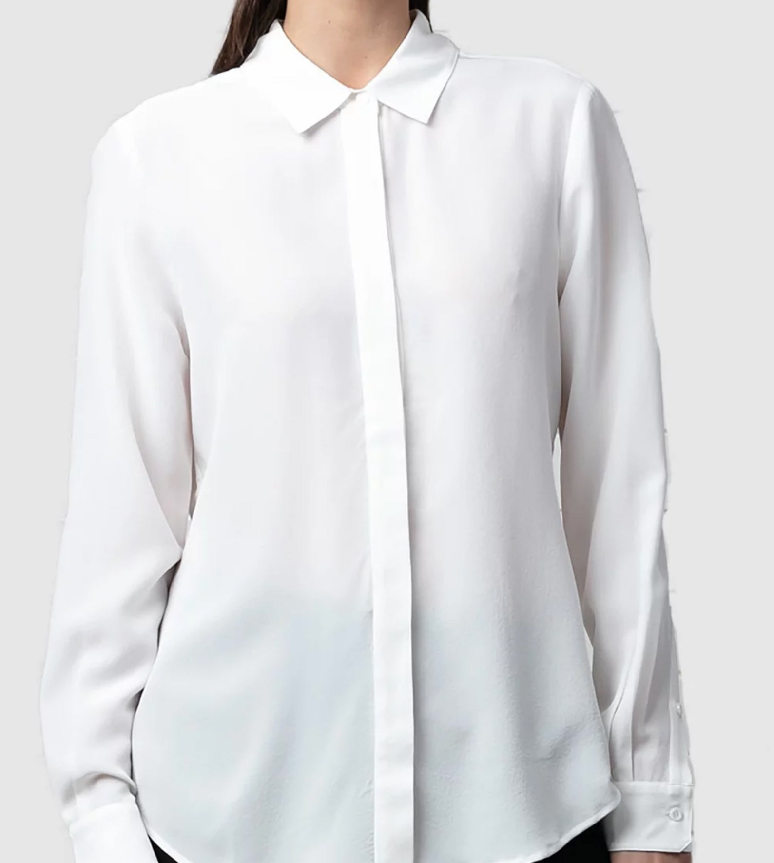 Niche - White Ichiko silk shirt