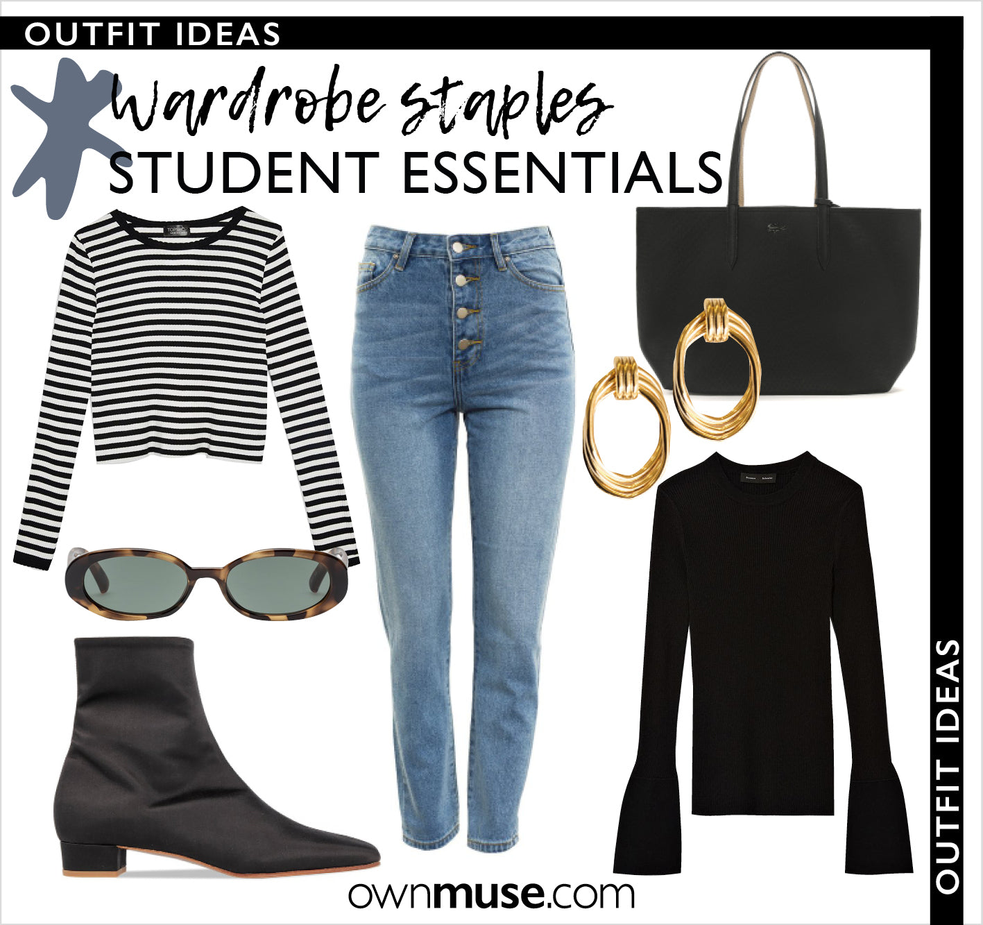 Outfit ideas get the look student collage capsule wardrobe