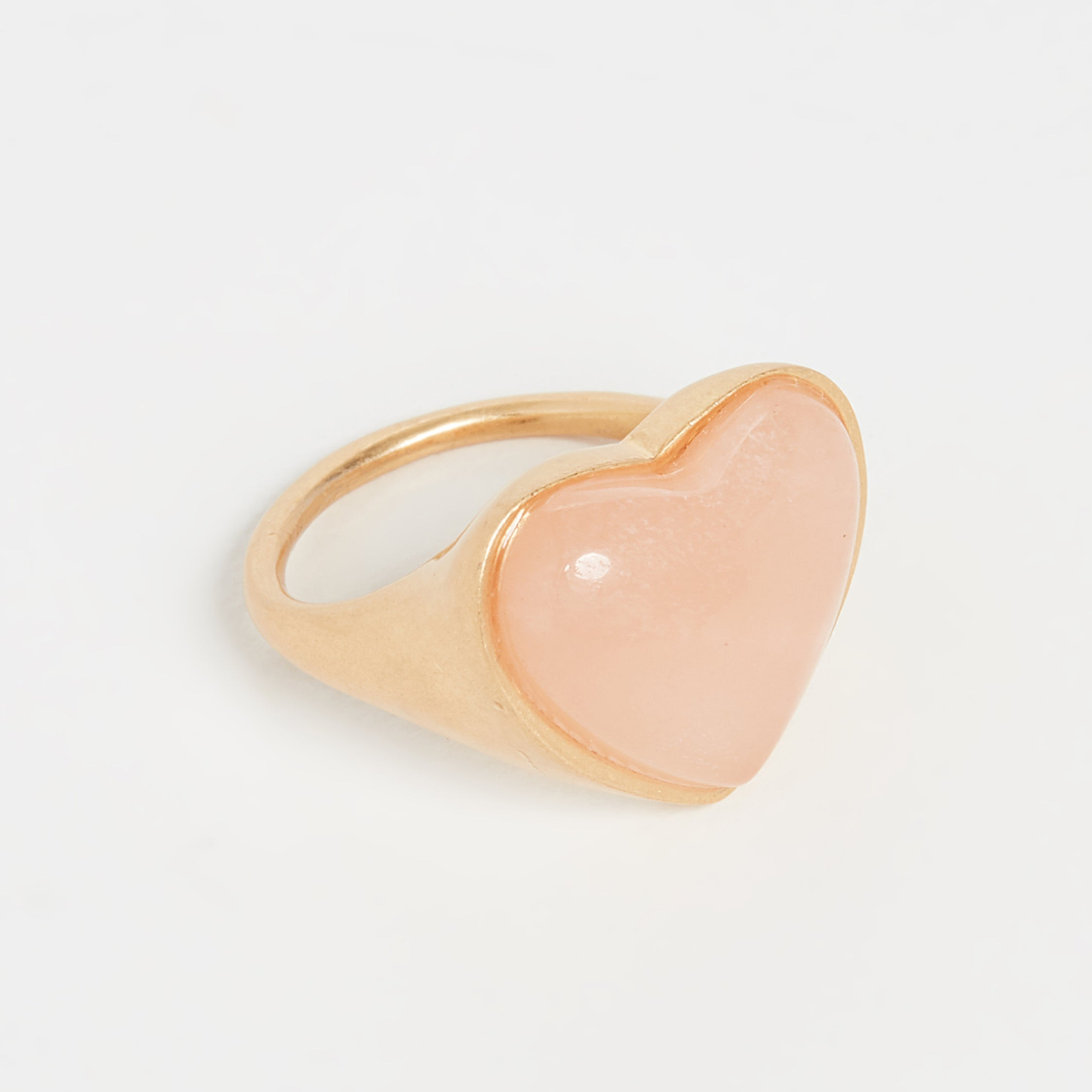 Madewell - Pink Rose Stone Heart Statement Ring