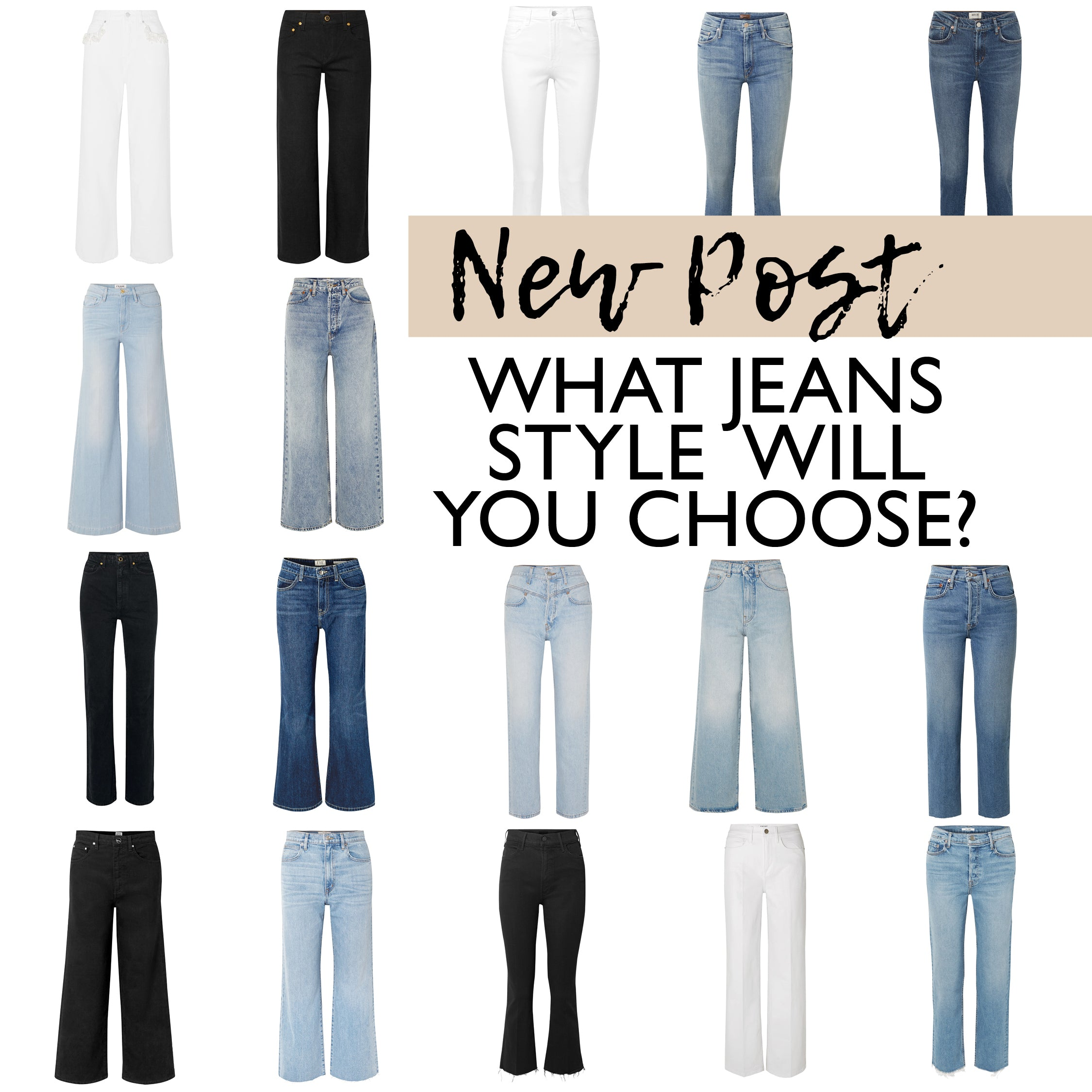Jeans - Capsule Wardrobe Collection - Jeans Style and Types