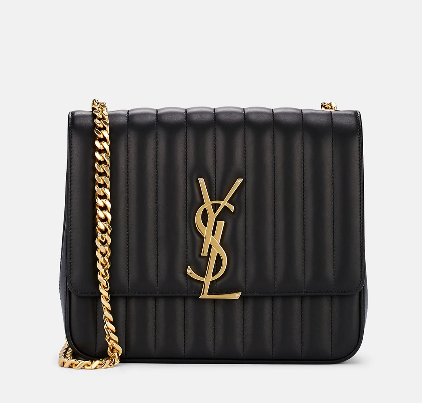 Saint Laurent - Monogram Vicky large leather chain shoulder bag