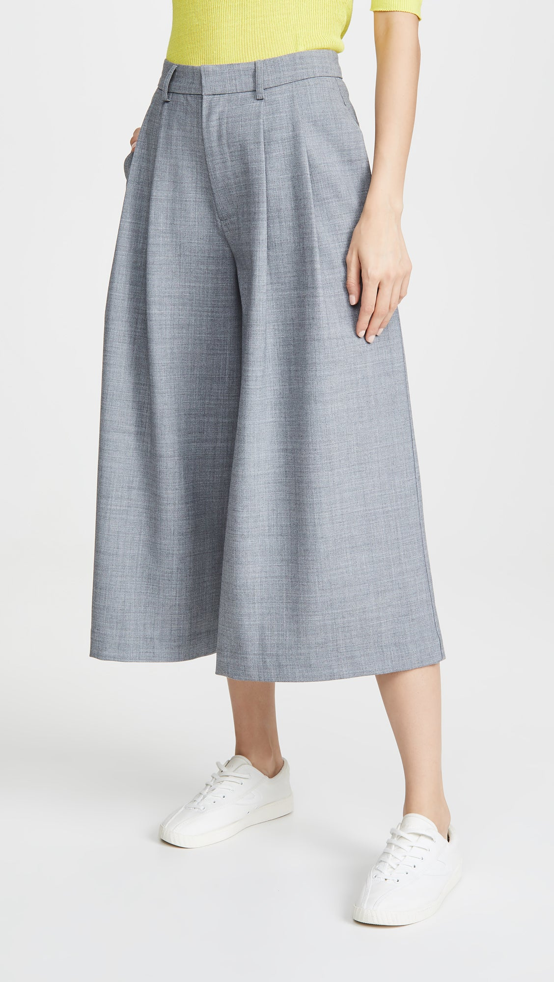 Sea - Wide-leg grey gray cropped trousers pants own muse