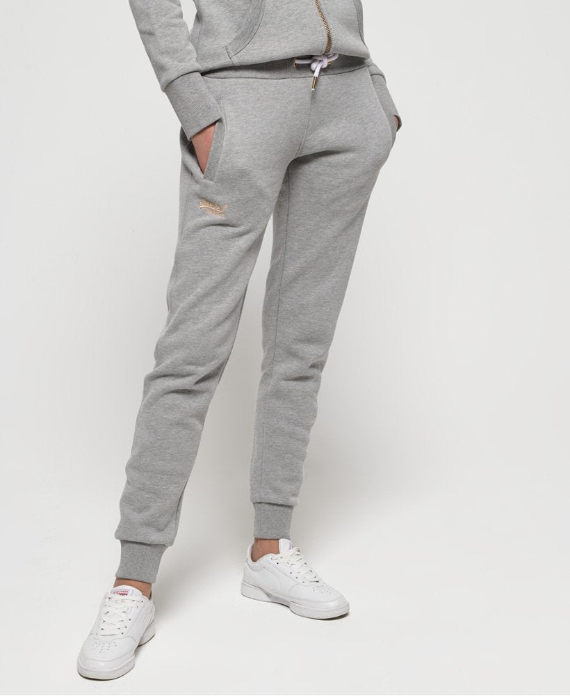 Superdry - grey gray marle joggers trackie track  suits pants own muse