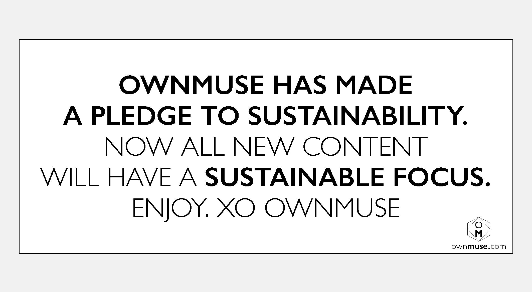 OwnMuse Sustainability