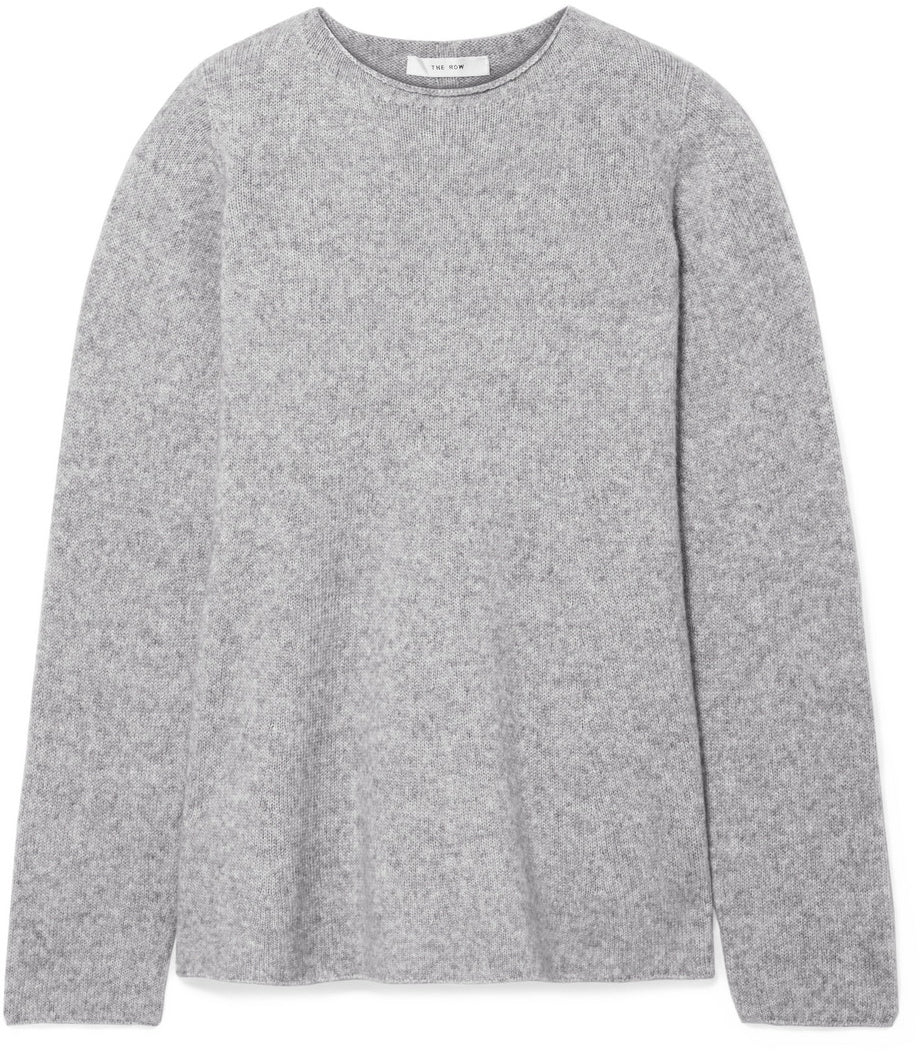 The Row - cashmere grey gray sweater jumper