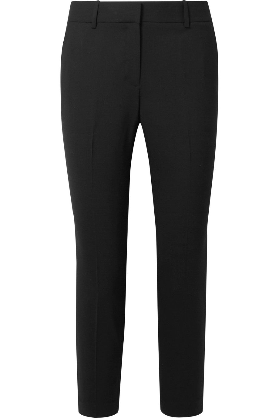 Theory - Black tapered slim-fit 'Treeca 2' stretch wool tapered pants trousers