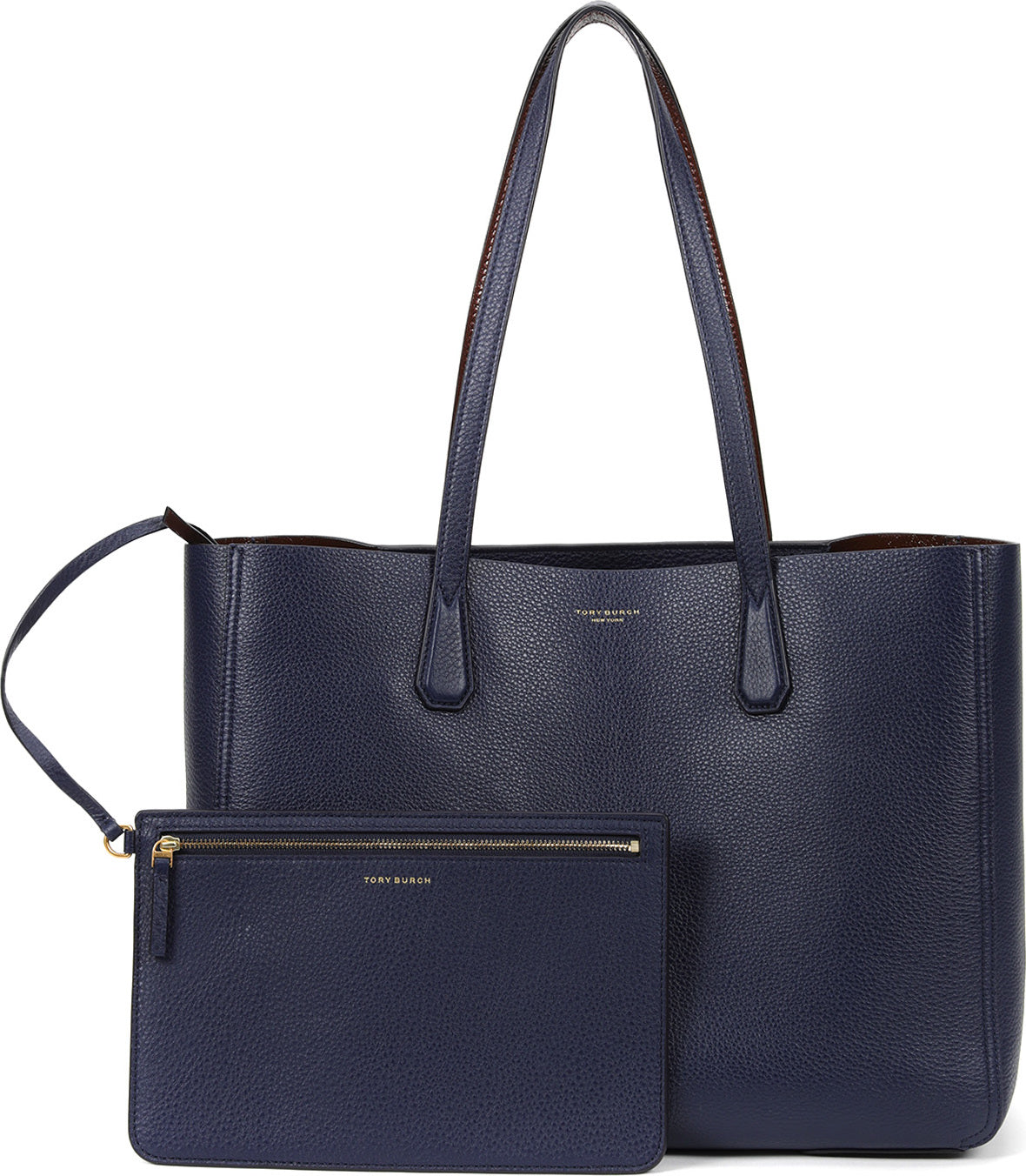 Tori Burch - Everyday tote bag navy blue leather