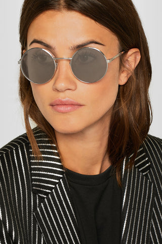 "Round Frame Silver Tone Dark Grey Lenses Sunglasses<a href=""http://shopstyle.it/l/gkmM"" target=""_blank"">"