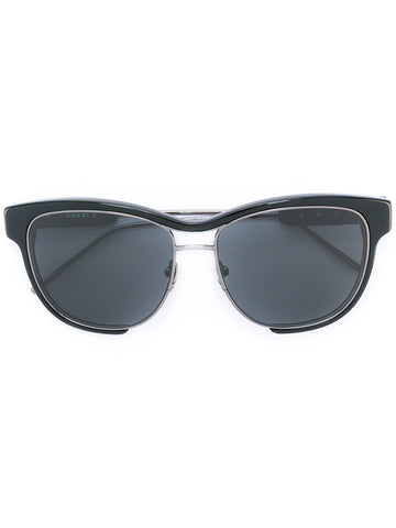 "Black & Navy Rounded Sunglasses With Tinted Lenses<a href=""http://shopstyle.it/l/e2XM"" target=""_blank"">"