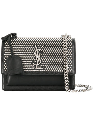 "Studded Mini Sunset Silver-tone Shoulder Bag<a href=""http://shopstyle.it/l/eWQ6"" target=""_blank"">"